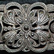 German 835  Silver Marcasite Bracelet  - 1920's