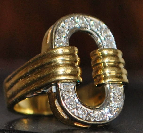 18K Diamond Fashion Ring - 1980's