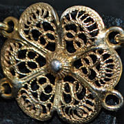 Italian 800 Silver Filigree Bracelet - 1920's
