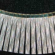 Italian Sterling Fancy Link Cleopatra Necklace - 1980's