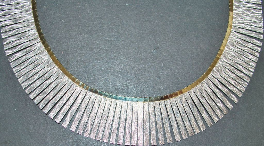 cleopatra hair style italian sterling silver cleopatra style necklace 1980 s 1560