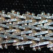 Italian Milor Sterling Silver Herringbone Necklace -1980's