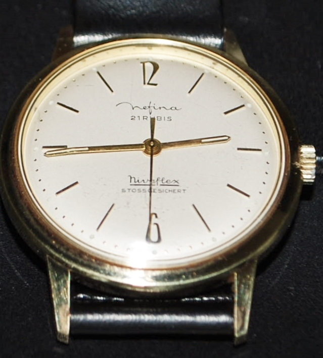 German Nefina 21 Jewel Wrist Watch - 1960's