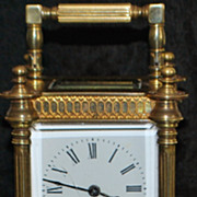 Fancy French Brass Carriage Clock-  1890