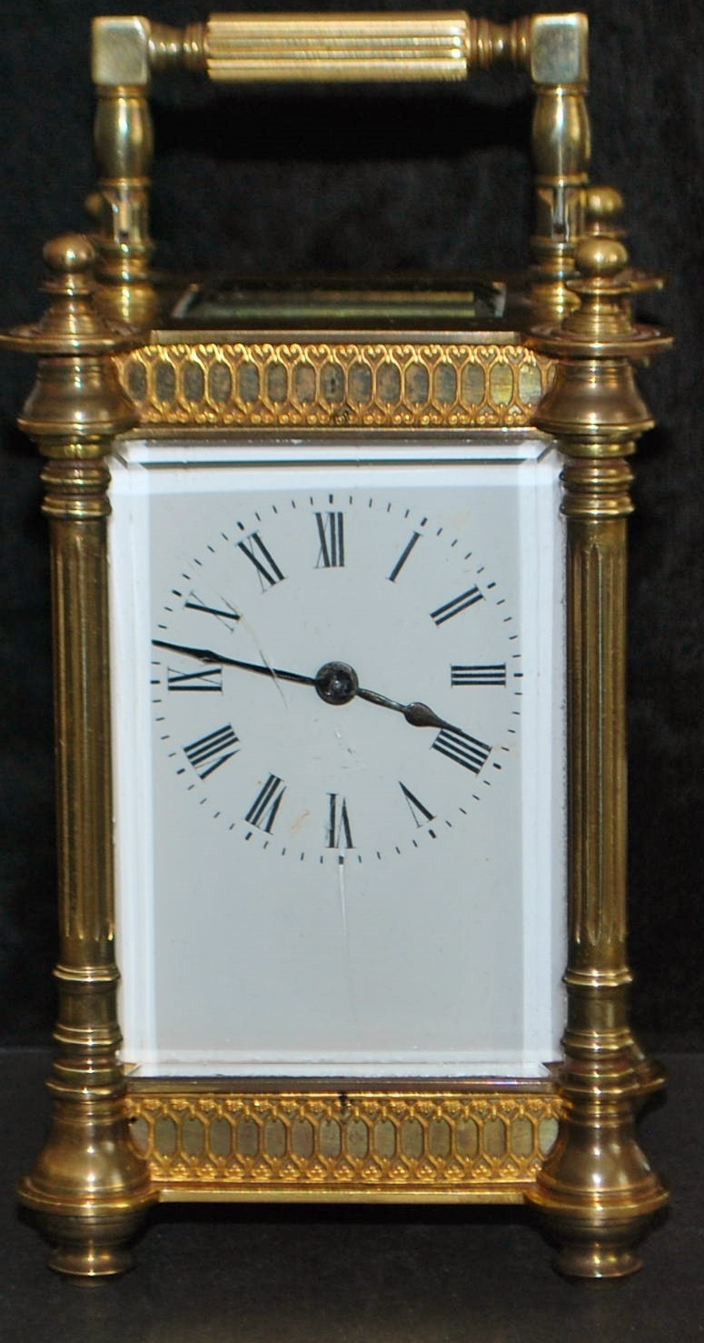 French Brass Carriage Clock-  1890
