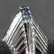 18K w/g Mid-Century Modern Sapphire Ring - 1950's