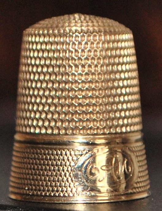 14K  No. 10 Gold Thimble - c.1910