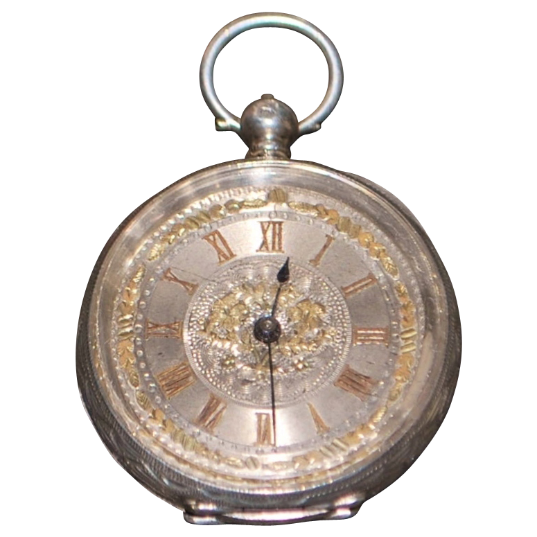 Swiss 935 Silver Pocket Watch, KWKS - 1890's