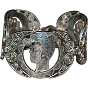 Spanish Real Coin Silver Bracelet - 19th Century