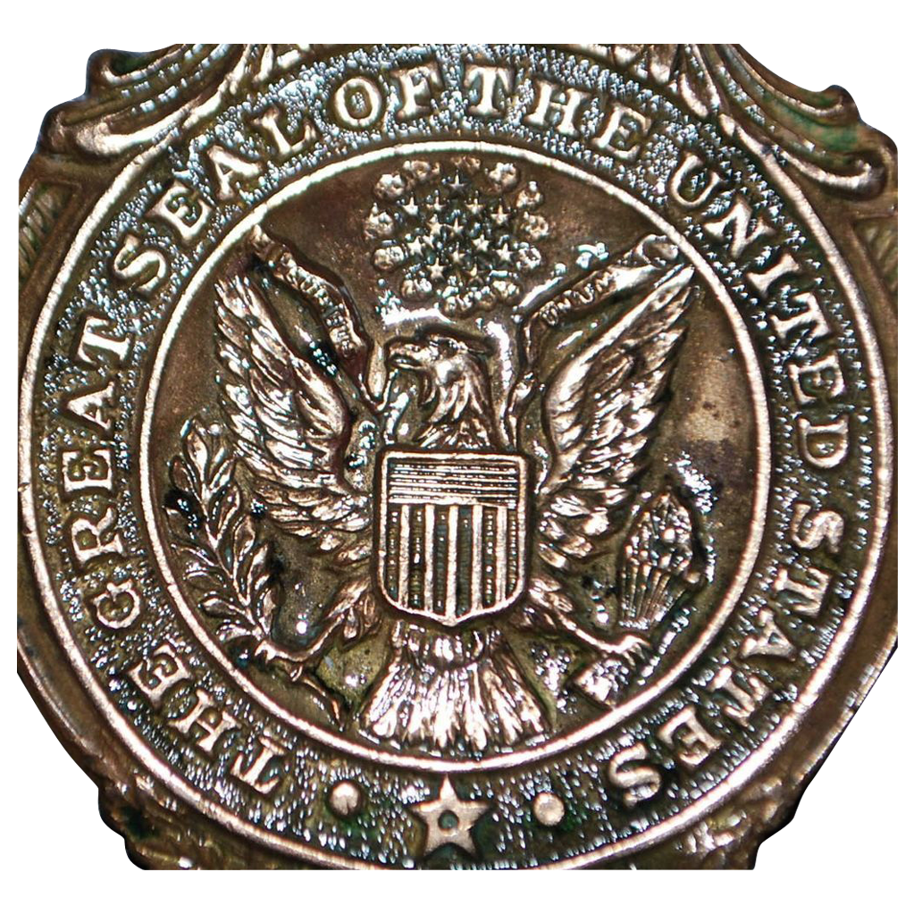 Great Seal of the United States Watch Fob - 1903