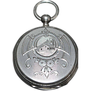 Swiss Fancy Silver OF Pocket Watch, c. 1890