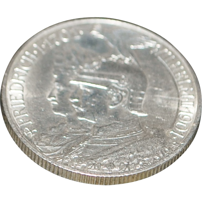 German Zwei Mark (Two Mark) Silver Coin - 1901