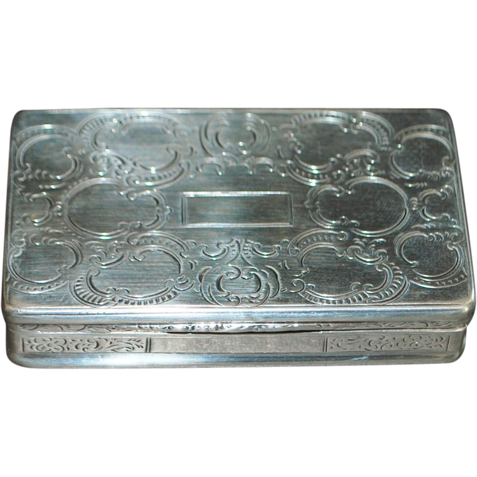 Prague 15 Loth Silver Snuff Box - 1851