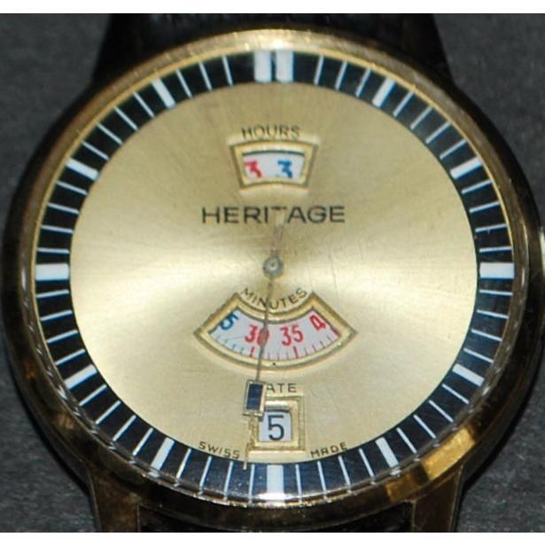 Agon Heritage Jump Hour EB Cal 8800 Wrist Watch-1970's