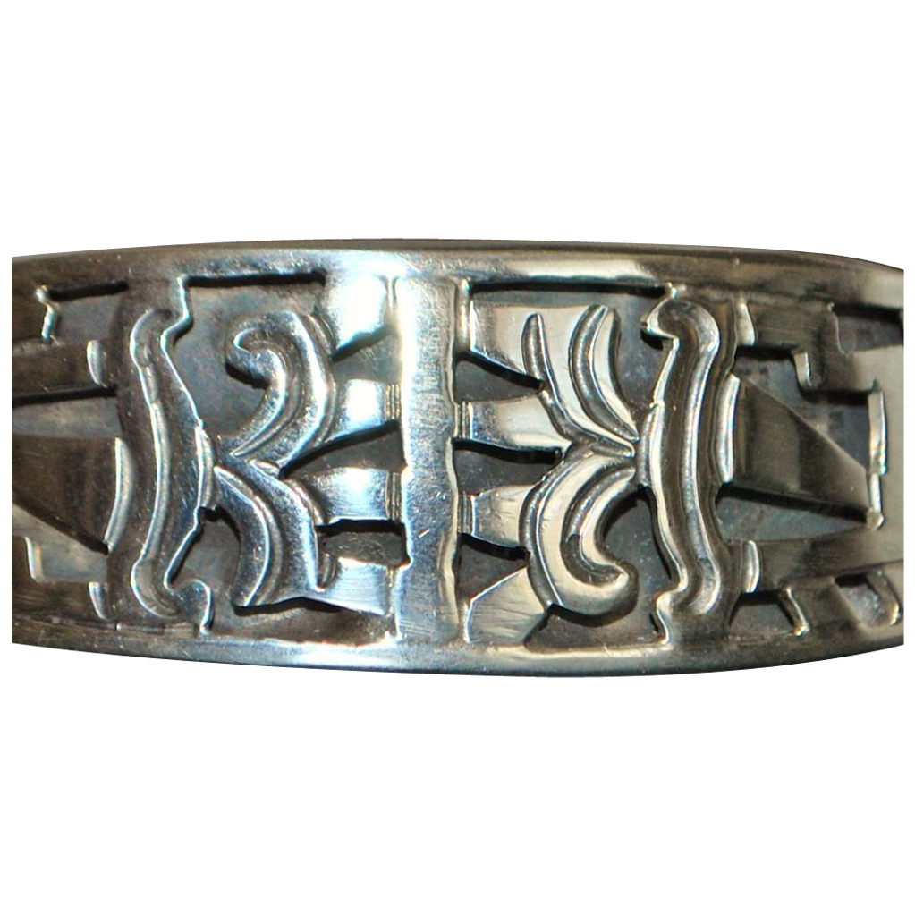 Mexican  Hand Wrought  Sterling Silver Bracelet - 1980