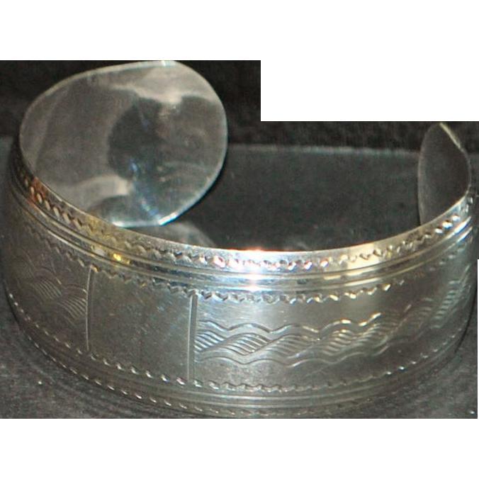 Birks Sterling Silver Cuff Bracelet - 1980's