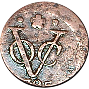 Dutch Duit or New York Penny Colonial Coin - 1735