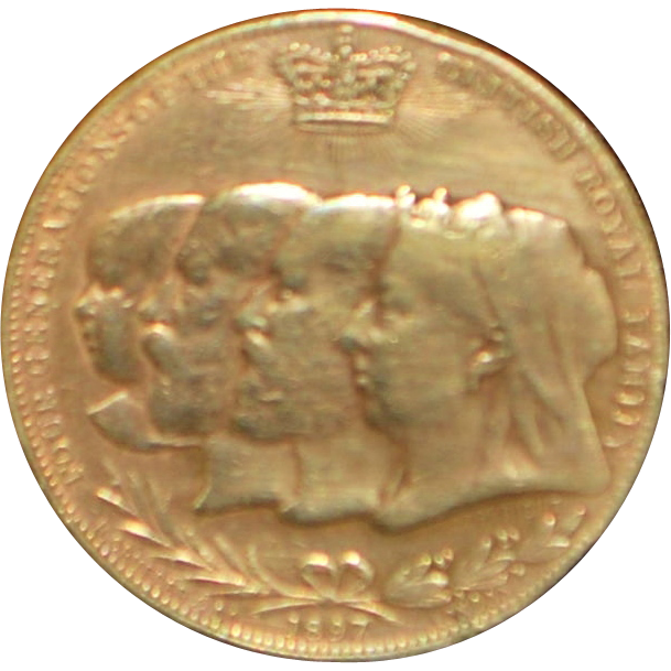 "Queen Victoria ""Four Generations"" Bronze Medal - 1897"