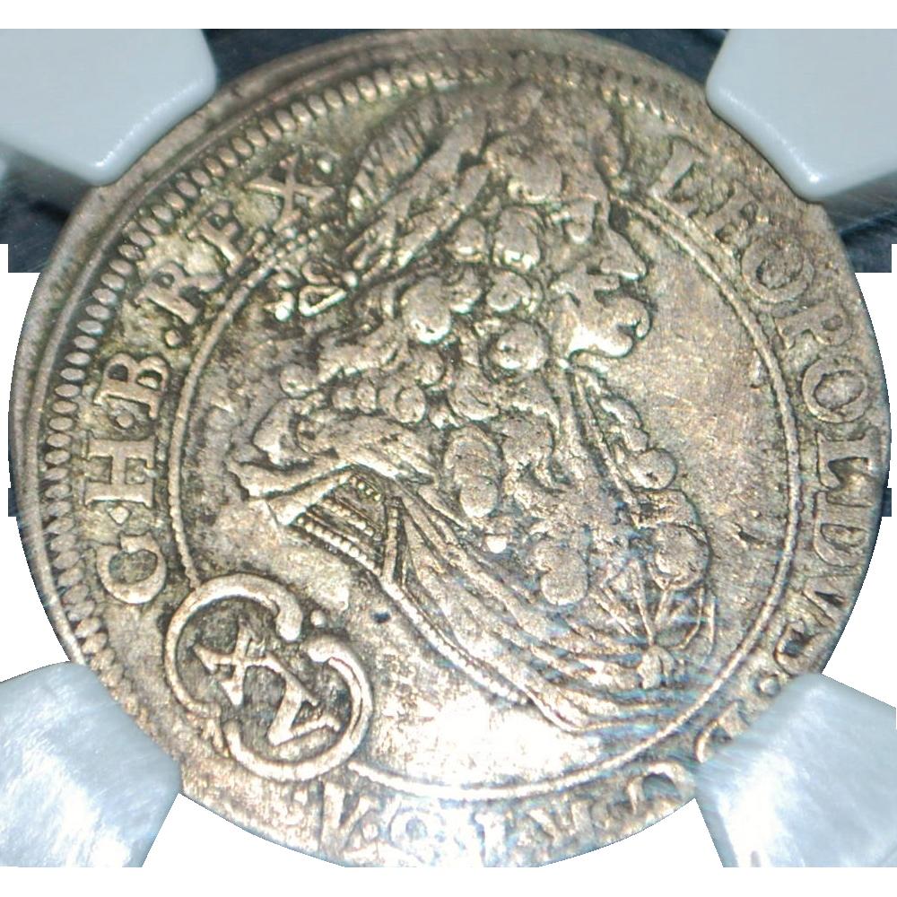 Austrian 15 Kreuzer Silver Coin - 1694