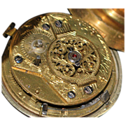 English Pair Case Verge Fusee OF Pocket Watch c. 1780
