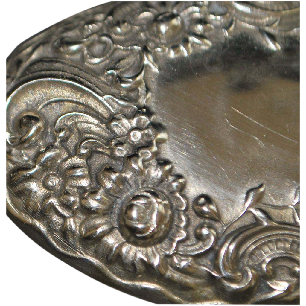 Solid Sterling Silver Fancy Belt Buckle