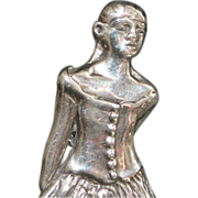 Degas Ballet Dancer Sterling Silver Brooch - 1980's