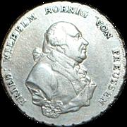 German Ein Thaler Silver Coin - 1796 - A