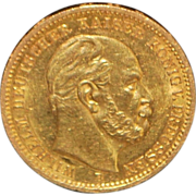 German 20 Mark Gold Coin - 1872-B UNC