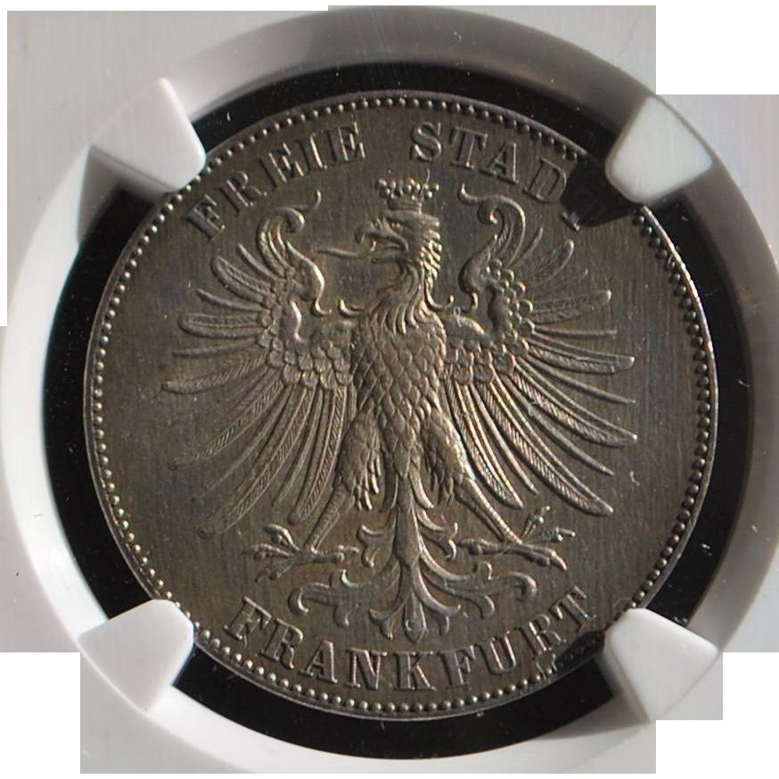 German Taler - Frankfurt - J. Schiller - 1859 - AU58