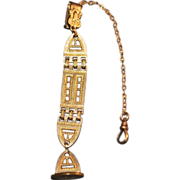 Gold Fill Watch Fob and Chain - c. 1910