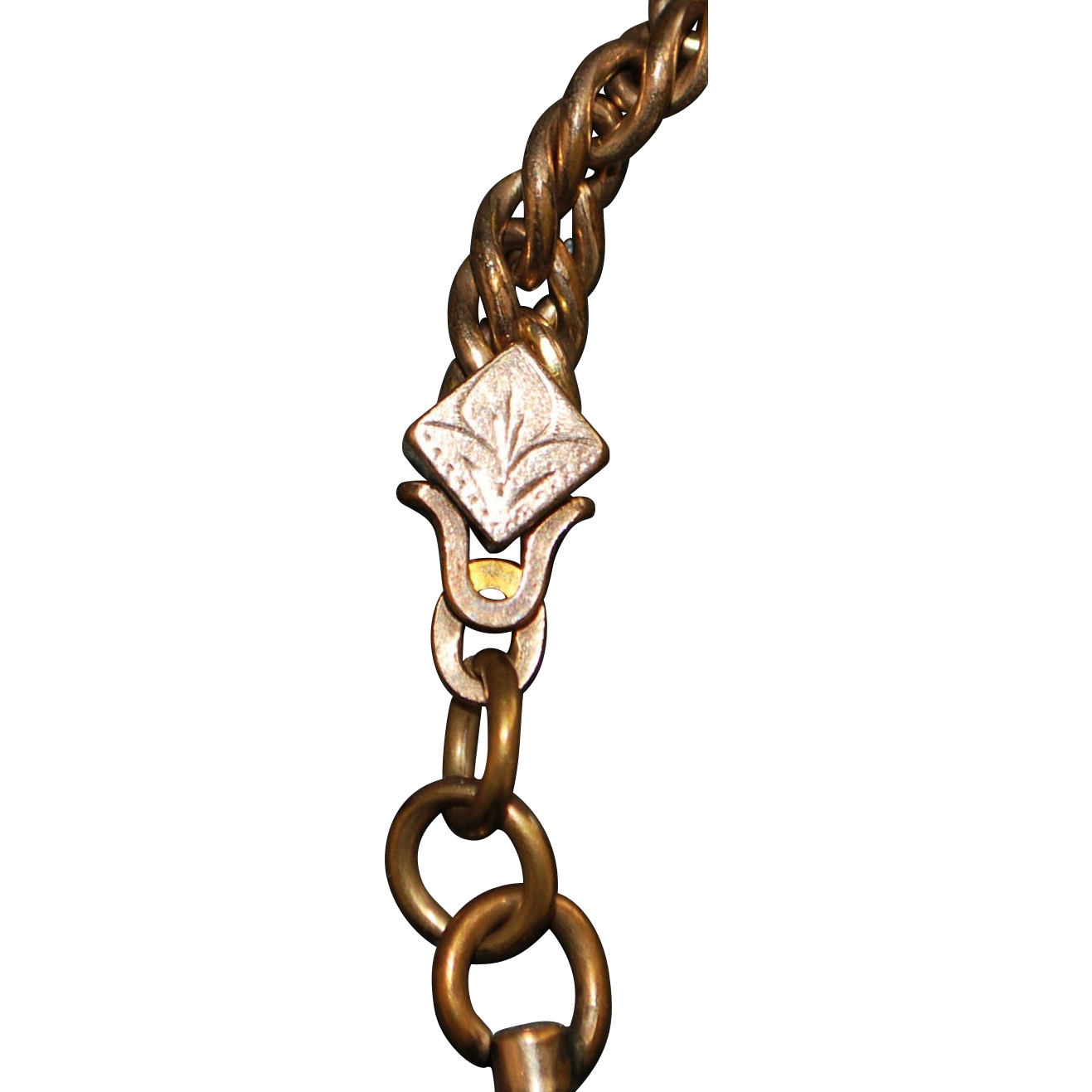 Victorian Gents Gold Fill Watch Chain - 1895
