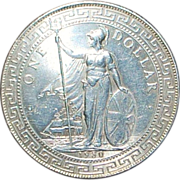Great Britain Silver Trade Dollar Coin - 1930 - B - UNC