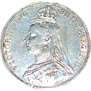 Great Britain Queen Victoria Silver Crown Coin - 1889