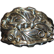 Large Man's Sterling Silver Designer Ring - 1980's