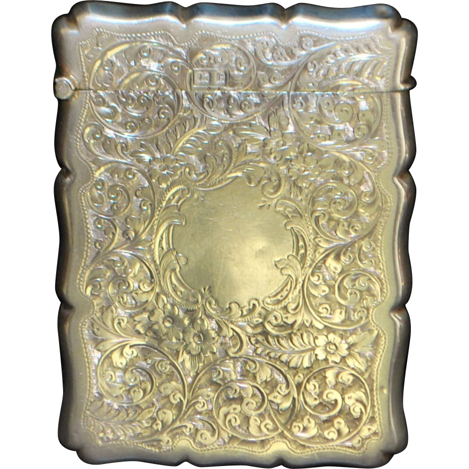 English Edwardian Sterling Silver Card Case - 1906