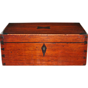 Rosewood and Mahogany Jewelry Box, c. 1845