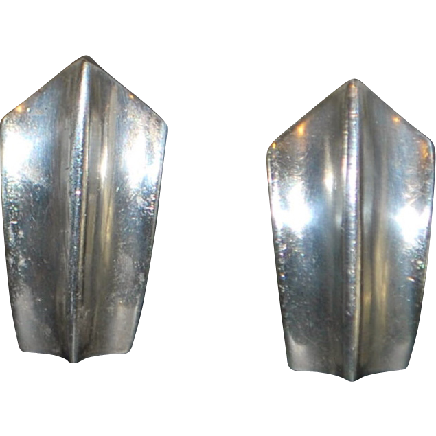 Pair of Taxco 970 Silver Clip On Earrings - 1980's