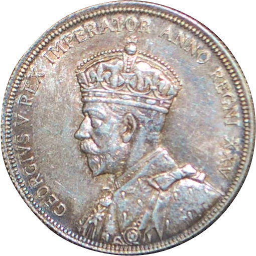 Canadian Silver One Dollar Coin - 1935 - AU