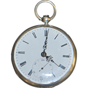 Swiss OF Silver KWKS Pocket Watch - 1870's
