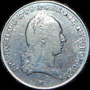 Emperor Francis II Silver Crown Thaler Coin - 1797