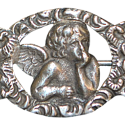 "Italian 800 Silver ""Angel"" Brooch - 1920's"