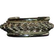 Heavy Sterling Silver Large Bangle - 1960's