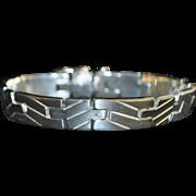 Man's 950 Silver Large Bracelet - 1980's
