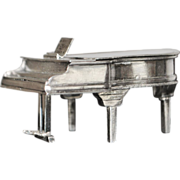 Dutch Silver Miniature Piano - 1930