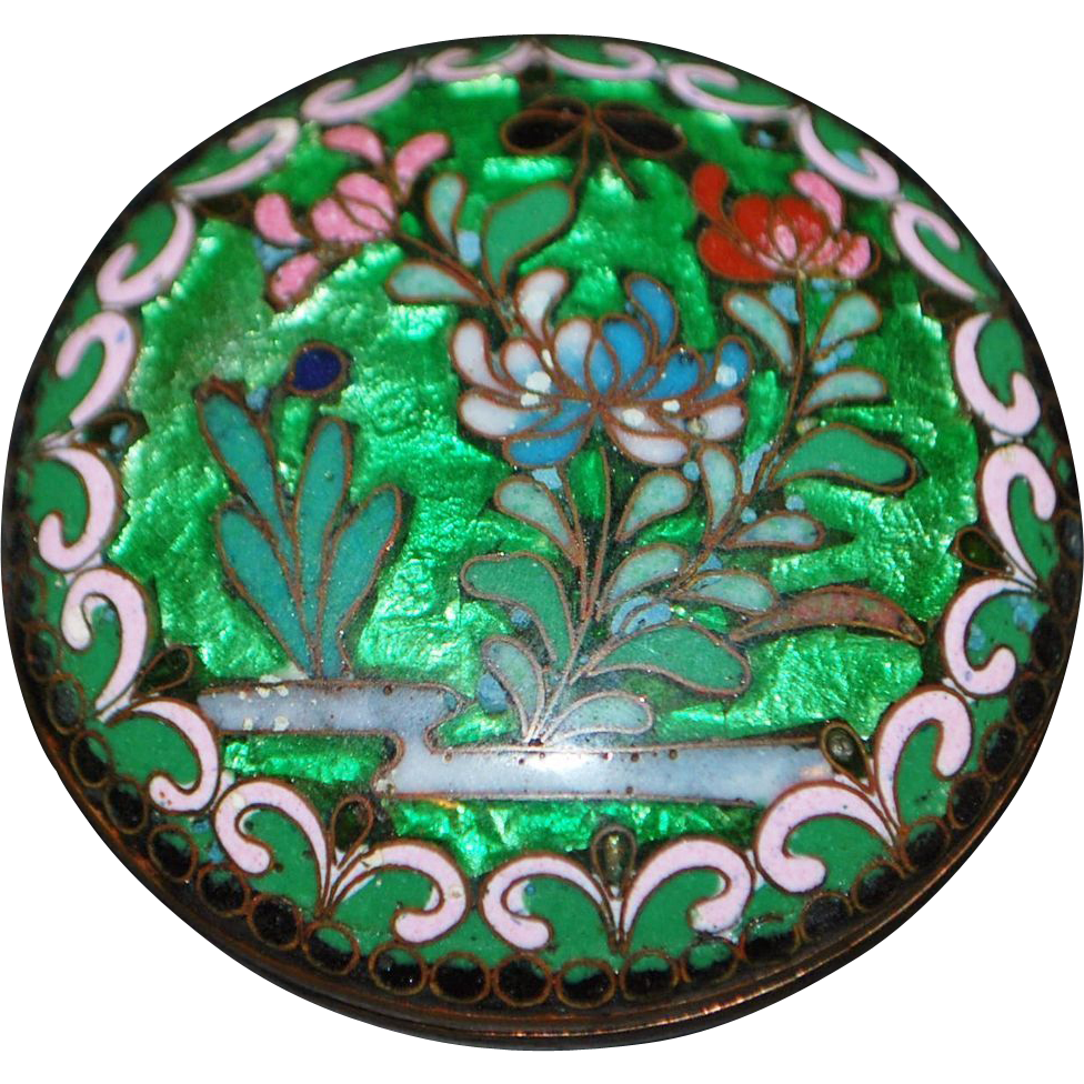 Chinese Cloisonne Box - c.1890