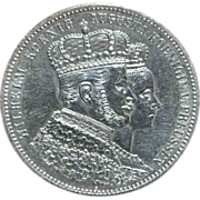 German Prussia 1 Thaler Silver Coronation Coin - 1861 - A - Au-Unc