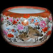 Japanese Hp Satsuma Porcelain Miniature Bowl - 1890