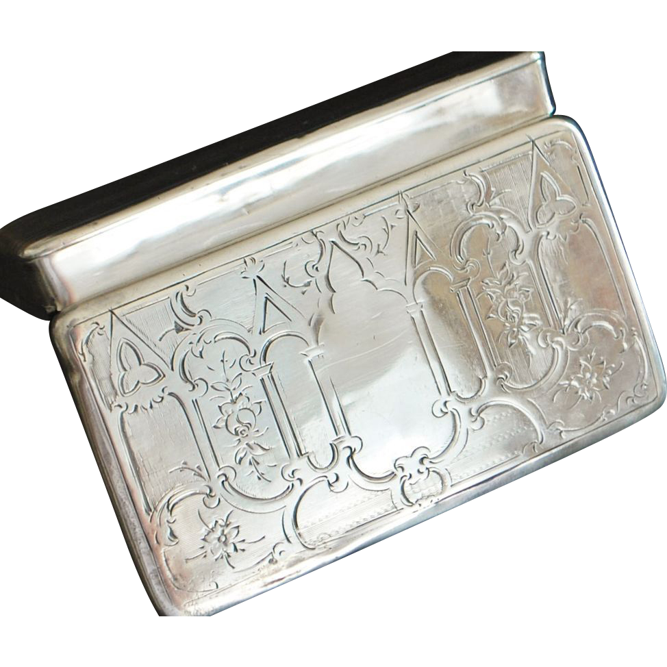 French 950 Silver Snuff Box, - 1840
