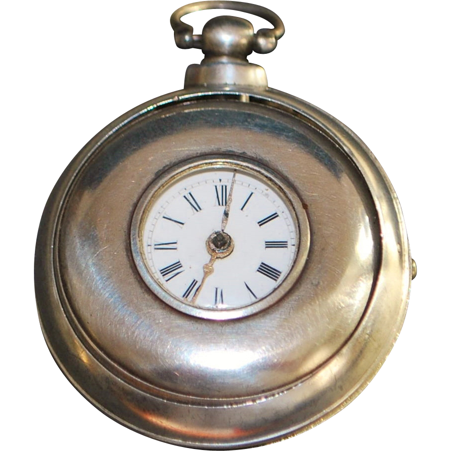 English Sterling Paired Case Fusee Pocket Watch - 1838