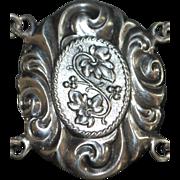 Large Ornate Sterling Silver Bracelet - 1920's